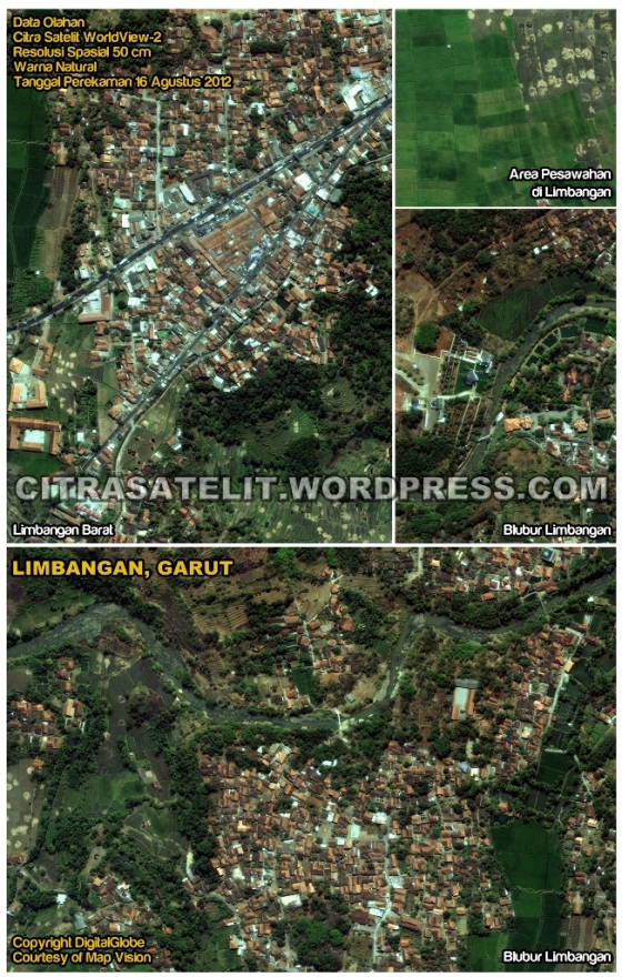 Data Olahan Citra Satelit WorldView-2 Wilayah Limbangan - Garut