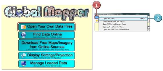 Gambar 1. Membuka Data di Global Mapper