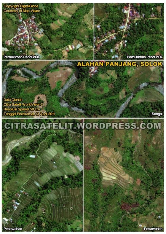 Data Olahan Citra Satelit WorldView-2 Wilayah Alahan Panjang - Solok