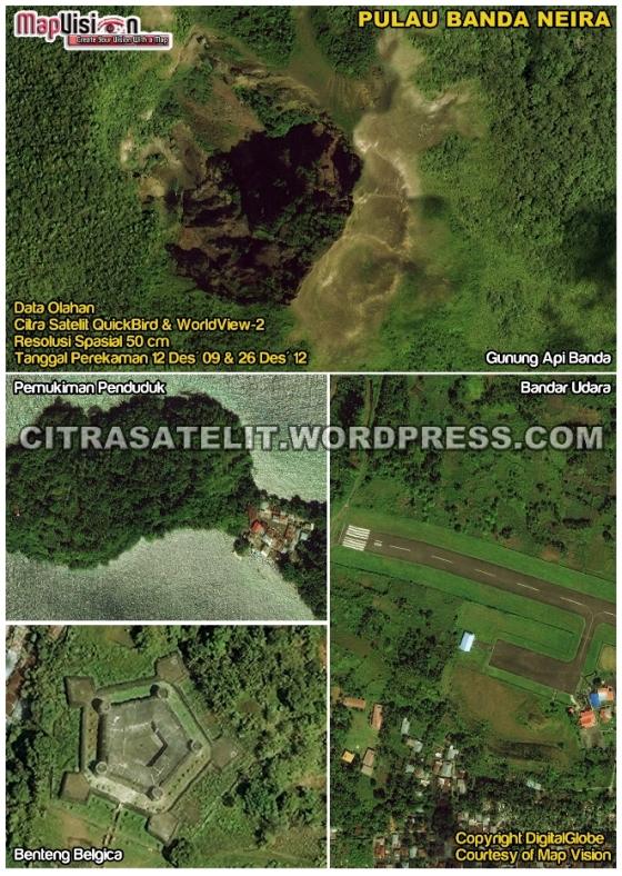 Data Olahan Citra Satelit QuickBird & WorldView-2 Wilayah Pulau Banda Neira - Maluku