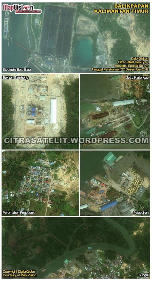 Data Olahan Citra Satelit GeoEye-1 Wilayah Balikpapan - Kalimantan Timur