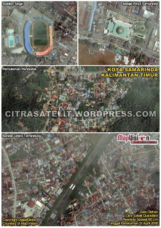 Data Olahan Citra Satelit QuickBird Wilayah Kota Samarinda - Kalimantan Timur