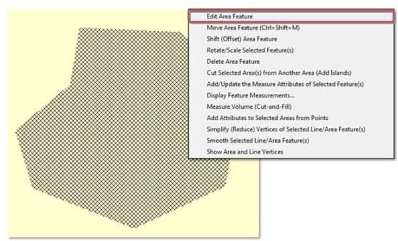 Gambar 5. Edit Area Feature
