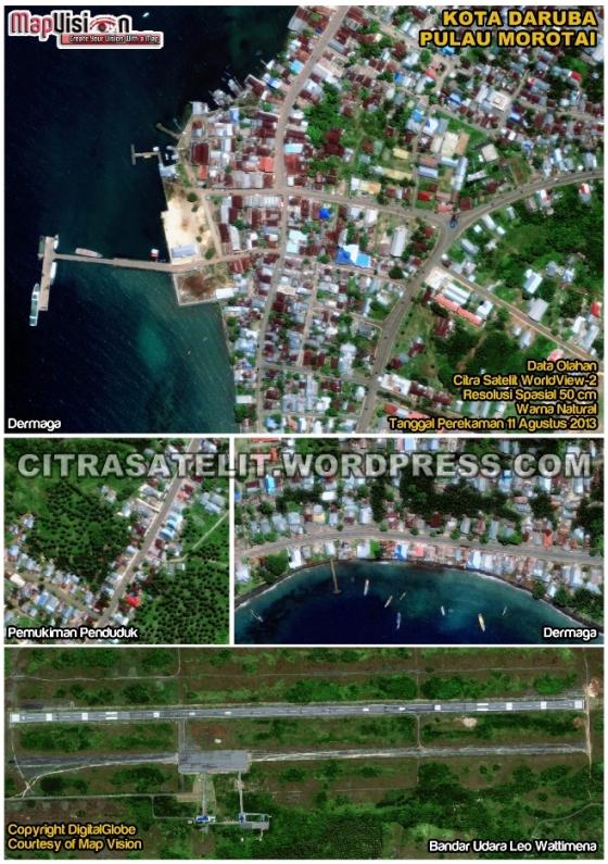 Data Olahan Citra Satelit WorldView-2 Wilayah Kota Daruba - Pulau Morotai