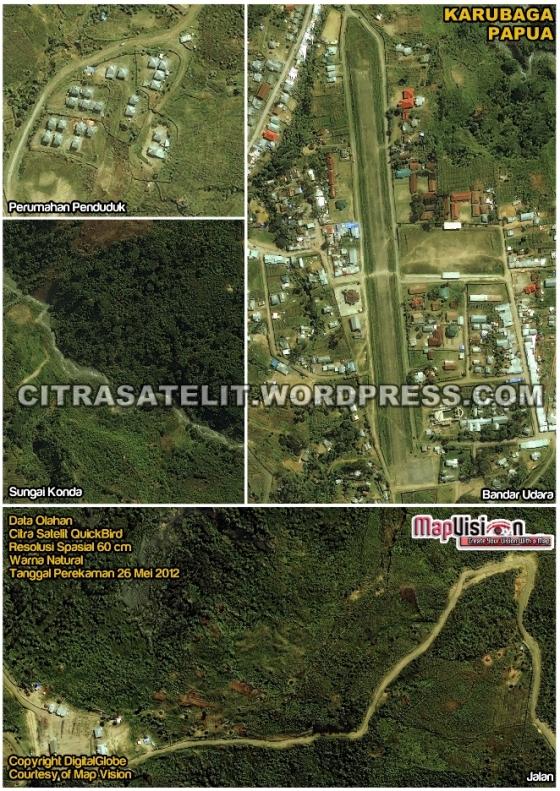 Data Olahan Citra Satelit QuickBird Wilayah Karubaga - Tolikara