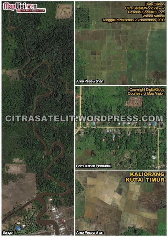 Data Olahan Citra Satelit WorldView-2 Wilayah Kaliorang - Kutai Timur