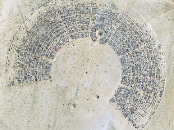 Citra Satelit Burning Man | Top Satellite Image of the Year© DIGITALGLOBE