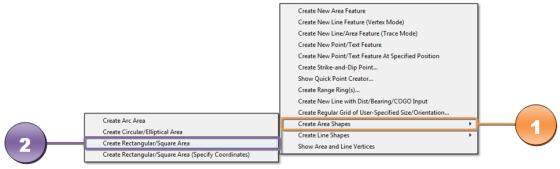 Gambar 2. Create Rectangular\Square Area (Specify Coordinates)