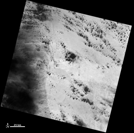 Gambar 2. Kenampakan Citra Pertama dari Satelit Landsat 8 yang Direkam Menggunakan Sensor TIRS (sumber : http://www.nasa.gov/mission_pages/landsat/news/first-images-feature.html)