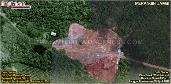 Gambar 7. Data Olahan Citra Satelit WorldView-1 & WorldView-2 Wilayah Merangin - Jambi