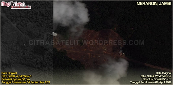 Data Original Citra Satelit WorldView-1 & WorldView-2 Wilayah Merangin - Jambi