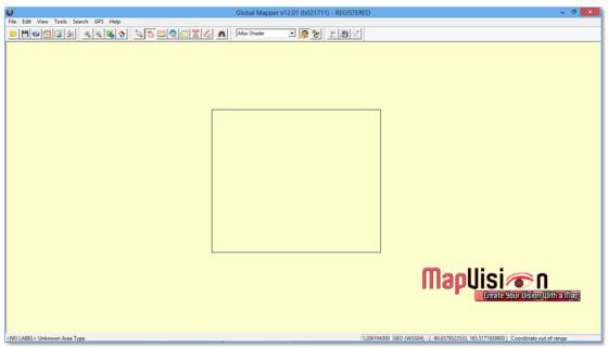 Gambar 3. Data Vektor Sudah Berada di Jendela Kerja Global Mapper