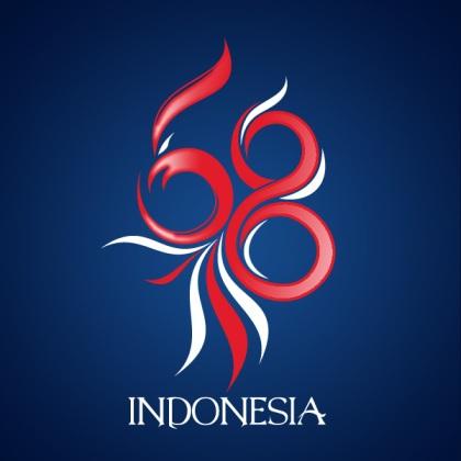 Logo HUT RI Ke-68 Karya Zetria Teguh Pradana Saputra (Akun Twitter : @okka666)