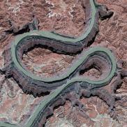Gambar 1. Citra Satelit Sungai Colorado di Utah, Amerika Serikat Tanggal Perekaman 22 April 2013