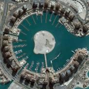 Gambar 14. Citra Satelit Yang Menunjukkan Pulau Buatan di Doha – Qatar Tanggal Perekaman 4 Maret 2013