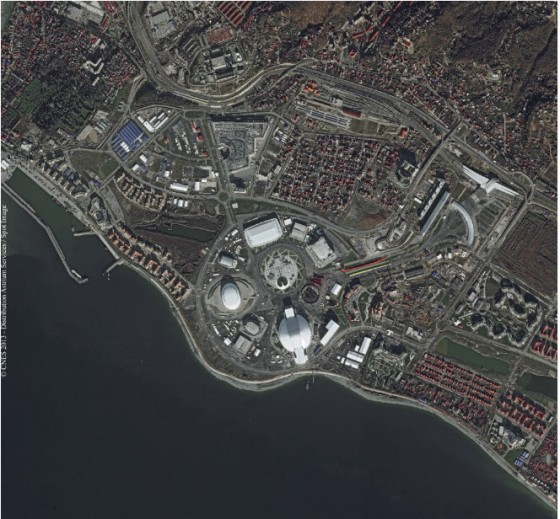 Data Citra Satelit Sochi Olympic Park, Tanggal Perekaman 19 Desember 2013 - Copyright Airbus Defense & Space