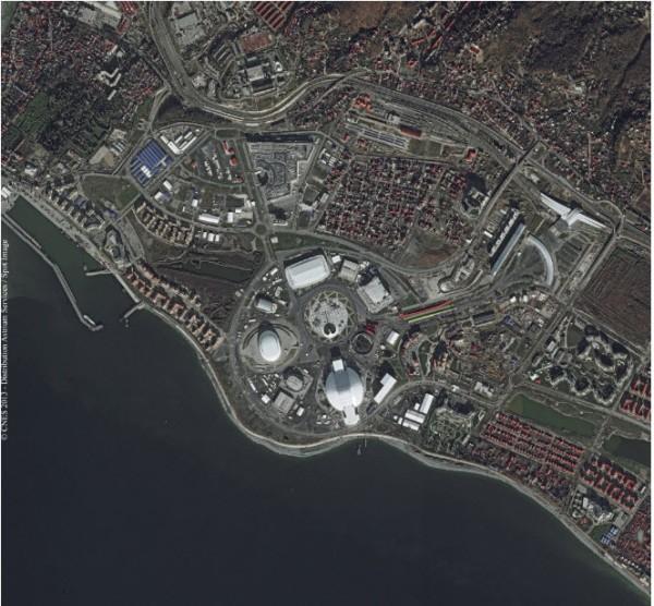 Data Citra Satelit Sochi Olympic Park, Tanggal Perekaman 19 Desember 2013 - Copyright Airbus Defense & Space