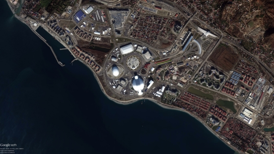 Data Citra Satelit Sochi Olympic Park, Tanggal Perekaman 02 Januari 2014 - Copyright DigitalGlobe