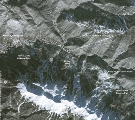 Gambar 4. Data Citra Satelit Sochi Mou,ntain Cluster, Tanggal Perekaman 05 Desember 2013 - Copyright Airbus Defense & Space