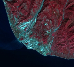 Kenampakan Citra Satelit Landsat 8 Arena Sochi Olympic Park - Credit: NASA/Landsat; Tim Assal, US Geological Survey – Fort Collins Science Center