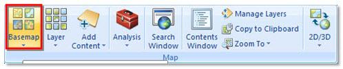 Gambar 4. Fitur Basemap di ArcGIS Explorer Desktop 2500