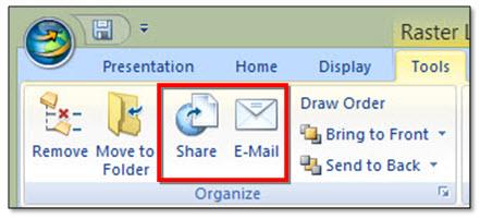 Mengirimkan Data Yang Tampil Pada Jendela Tampilan Melalui E-mail (Ditunjukkan Oleh Area Berwarna Merah Pada Gambar Di Atas)