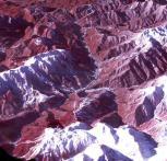 3D View Wilayah Mountain Cluster Yang Direkam Menggunakan Satelit Terra - Credit: NASA/GSFC/METI/ERSDAC/JAROS, and U.S./Japan ASTER Science Team