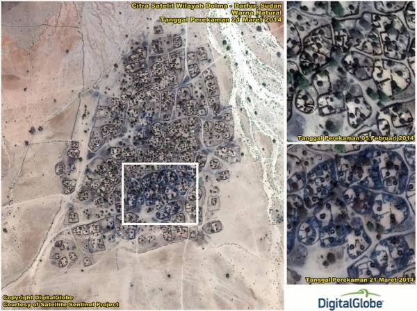3D View Data Olahan Citra Satelit QuickBird Wilayah Karubaga – Papua