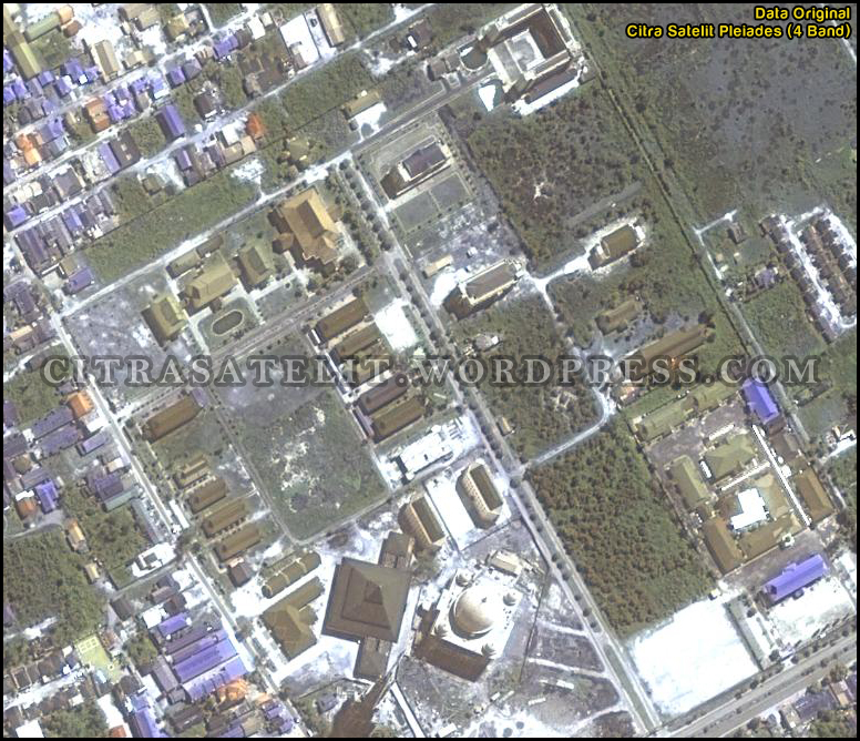 kombinasi warna data citra satelit map vision