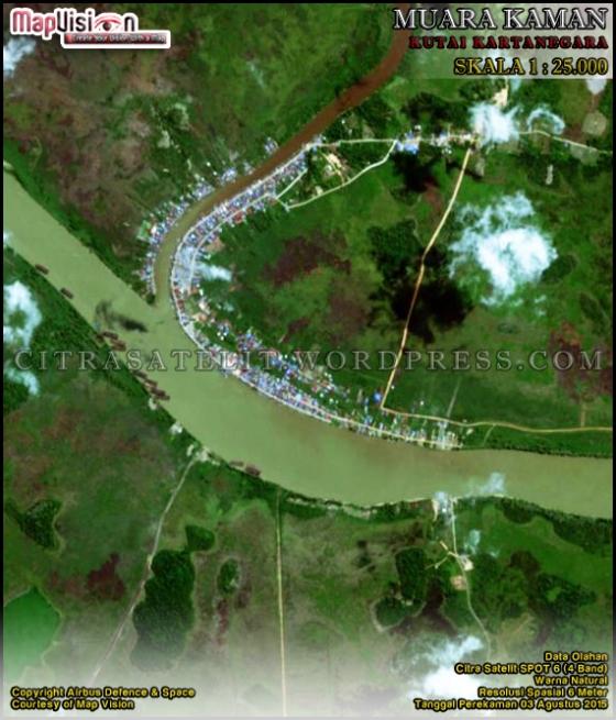 Data Olahan Citra Satelit SPOT 6 (4 Band) Warna Natural Wilayah Muara Kaman - Kutai Kartanegara Skala 1 : 25.000