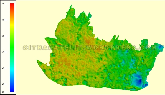 3D View Data Olahan Citra Satelit SPOT 6 Warna Natural Wilayah Kabupaten Kutai Kartanegara