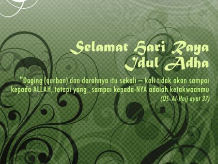 Kartu Ucapan Selamat Hari Raya Idul Adha Idul Qurban Map Vision