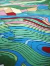 Karpet dengan Desain Kenampakan Data CitraSatelit