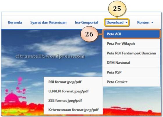 Download Peta RBI per AOI atau NLP